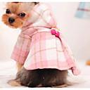 abordables Ropa para Perro-Perro Abrigos Ropa para Perro Bloques Rosa Azul Claro Algodón Disfraz Para Invierno Hombre Mujer Moda
