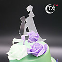 billige Kakedekorasjoner-Kakepynt Klassisk Tema Klassisk Par Akryl 15- og 16-års bursdag med 1 OPP