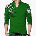 preiswerte Kleideruhr-Herrn Chinoiserie Boho Sport Wochenende Übergrössen T-shirt, Ständer Druck Baumwolle