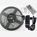 ieftine Benzi de Lumină LED-ZDM® 5m Fâșii RGB 150 LED-uri 5050 SMD 1 44 Controlul telecomenzii / 1 cablu AC / Adaptor 3 x 12V 3A RGB Ce poate fi Tăiat / Rezistent la apă / Decorativ 1set / IP65 / Auto- Adeziv