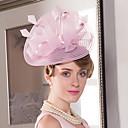 baratos Acessórios de Cabelo-Tule / Pena Fascinadores / Chapéus com 1 Casamento / Ocasião Especial / Casual Capacete