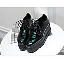povoljno Ženske oksfordice-Žene Cipele Guma Ljeto Svjetleće tenisice Cipele na petu Ravna potpetica Crn