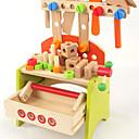 Недорогие Игрушечные инструменты-Строительные инструменты Игрушечные инструменты Ящики для инструментов Безопасность деревянный Детские Мальчики Игрушки Подарок