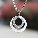 cheap Sexy Uniforms-Women's Synthetic Diamond Pendant Necklace - Silver Plated, Imitation Diamond Ladies, Basic, Fashion Silver Necklace Jewelry 1pc For Wedding, Party, Gift, Daily, Casual