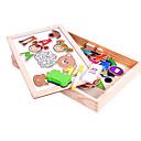 זול צעצועי קריאה-פאזלים מעץ מגנטית ריבוע עץ בגדי ריקוד ילדים מתנות