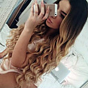povoljno Perike s ljudskom kosom-Remy kosa Full Lace Perika stil Brazilska kosa Valovita kosa Ombre Perika 150% Gustoća kose s dječjom kosom Ombre Prirodna linija za kosu Afro-američka perika 100% rađeno rukom Žene Kratko Srednja