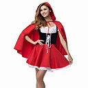 tanie Buty do latino-Bajkowe Little Red Riding Hood Kostiumy Cosplay Kostium imprezowy Damskie Święta Halloween Karnawał Festiwal/Święto Stroje Czerwony Patchwork