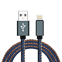 abordables Cables y Cargador-USB 2.0 / Iluminación Trenzado / Alta Velocidad Cable Macbook / iPad / MacBook Air para 100 cm Para Aluminio / Nailon