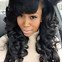 cheap Human Hair Wigs-Human Hair Glueless Lace Front Lace Front Wig Brazilian Hair Loose Wave Wig 180% Density with Baby Hair Natural Hairline African American Wig 100% Hand Tied Women's Short Medium Length Human Hair