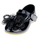 baratos Sapatos de Bebês-Para Meninas Sapatos Courino Primavera / Outono Conforto / Sapatos para Daminhas de Honra Rasos Cristais / Apliques / Velcro para Branco