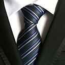 זול אביזרים לגברים-עניבת צווארון - פסים מסיבה / עבודה / פסים בגדי ריקוד גברים