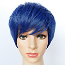 cheap Costume Wigs-Synthetic Wig Straight Synthetic Hair Blue Wig Men's / Women's Short Capless