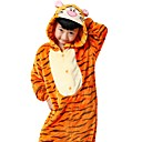 cheap Kigurumi Pajamas-Kid's Adults' Kigurumi Pajamas Tiger Onesie Pajamas Flannel Toison Orange Cosplay For Boys and Girls Animal Sleepwear Cartoon Festival / Holiday Costumes