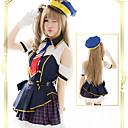 levne Anime Cosplay Accessories-Sailor Lolita Dámské / Dívčí Šaty Cosplay Inkoustová modř Krátký rukáv Krátký / Mini