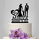 cheap Cake Toppers-Cake Topper Garden Theme / Classic Theme / Rustic Theme Classic Couple Acrylic Wedding / Anniversary / Birthday with OPP