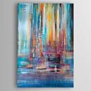 זול ציורים מופשטים-ציור שמן צבוע-Hang מצויר ביד - מופשט קלסי כלול מסגרת פנימית / בד מתוח