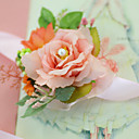 """cheap Wedding Flowers-Wedding Flowers Wrist Corsages Wedding Party / Evening Engagement Party Party/Cocktail Tulle Satin 1.18""""(Approx.3cm)"""