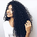 cheap Human Hair Wigs-Human Hair Lace Front Wig / Glueless Lace Front Wig Brazilian Hair Kinky Curly With Baby Hair 130% Density Natural Hairline / African American Wig / 100% Hand Tied Women's Short / Medium Length / Long