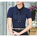 baratos Camisas & Shorts/Calças de Ciclismo-Mulheres Camisa Social - Trabalho Sólido Colarinho de Camisa