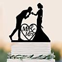 preiswerte Tortenfiguren & Dekoration-Tortenfiguren & Dekoration Strand Garten Schmetterling Klassisch rustikales Theme Weinlese-Thema Hochzeit Klassisches Paar Kunststoff