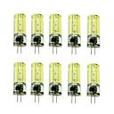 זול אביזרים למקרנים-3 W נורות שני פינים לד 430-550 lm G4 T 1 LED חרוזים COB דקורטיבי לבן חם לבן קר 220 V / עשרה חלקים / RoHs