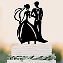 cheap Sports Support & Protective Gear-Cake Topper Beach Theme Garden Theme Butterfly Theme Classic Theme Rustic Theme Vintage Theme Wedding Classic Couple Plastic Wedding