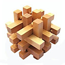 cheap Wooden Puzzles-Balls Wooden Puzzles IQ Brain Teaser Kong Ming Lock Luban Lock Square IQ Test Wood Unisex Gift