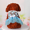preiswerte Hundekleidung-Hund Kleider Hundekleidung Spitze Blau Rosa Baumwolle Kostüm Für Haustiere Damen Niedlich Lässig/Alltäglich Sport