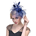 cheap Party Headpieces-Tulle / Feather / Net Fascinators / Headwear with Floral 1pc Wedding / Special Occasion Headpiece
