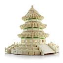 baratos Quebra-Cabeças 3D-Quebra-Cabeças 3D / Quebra-Cabeça / Brinquedos de Montar Construções Famosas / Arquitetura Chinesa / templo do Céu Simulação De madeira