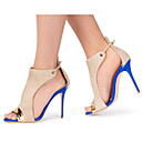 cheap Women's Boots-Women's Shoes Synthetics Spring / Summer Slingback Sandals Stiletto Heel Peep Toe Buckle / Split Joint Blue / Wedding / Party & Evening / Party & Evening