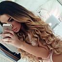 preiswerte Plätzchen-Werkzeuge-Remi-Haar Ohne Klebstoff und  Spitze in der Front / Spitzenfront Perücke Lose gewellt Perücke 150% Gefärbte Haarspitzen (Ombré Hair) / Natürlicher Haaransatz / Afro-amerikanische Perücke Damen Kurz