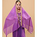baratos Roupas de Dança do Ventre-Dança do Ventre Véu Mulheres Espetáculo Tule Cristal / Strass Decoração de Cabelo / Véu