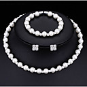cheap Jewelry Sets-Women's AAA Cubic Zirconia Jewelry Set - Fashion Include Pearl Necklace White For Wedding / Party / Engagement