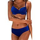 abordables Pinceles para Polvo-Mujer Tallas Grandes Bikini - Básico, Un Color Slips Con Tirantes