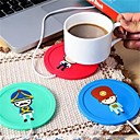 cheap Drinkware Accessories-Cartoon creative silicone electric Insulation coaster USB warm cup heating device Office Coffee Tea Warmer Pad Mat