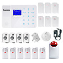 cheap Burglar Alarm Systems-Danmini Wired Home Alarm Systems GSM Platform GSM SMS / Phone / Learning Code / Panel  Keyboard / Remote Controller 433Hz for