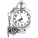 abordables Pelucas Sintéticas con Agarre-Hombre Reloj de Bolsillo Reloj de Pulsera Cuarzo Reloj Casual Aleación Banda Analógico Encanto Moda Plata - Blanco