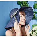 رخيصةأون أدوات الفواكه و الخضار-قبعة الماصة قبعة شمسية سادة جميل حفلة عطلة للمرأة