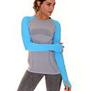 voordelige Fitness-, hardloop- en yogakleding-Dames Strakke ronde hals Patchwork Hardloopshirt - Grijs, Groen, Blauw Sport Modieus Spandex T-shirt / Kleding Bovenlichaam Lange mouw