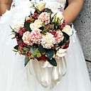 cheap Wedding Flowers-Wedding Flowers Round Roses Bouquets Wedding / Party/ Evening Satin / Silk / Bead / Rhinestone