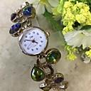 זול עגילים אופנתיים-בגדי ריקוד נשים שעון צמיד יהלוםSimulated שעון קווארץ חיקוי יהלום / סגסוגת להקה אנלוגי יום יומי זהב ורד - אדום חאקי הסוואה ירוקה שנה אחת חיי סוללה / SSUO LR626