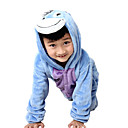 cheap Kigurumi Pajamas-Kid's Kigurumi Pajamas Donkey Onesie Pajamas Flannel Toison Blue Cosplay For Boys and Girls Animal Sleepwear Cartoon Festival / Holiday Costumes