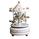 cheap Music Boxes-Music Box Horse Carousel Merry Go Round Cute DIY Party Kid's Adults Kids Gift Unisex