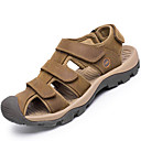 cheap Men's Slippers & Flip-Flops-Men's Cowhide Spring / Summer Sporty / Comfort Sandals Upstream Shoes Light Brown