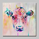 זול ללא מסגרת פנימית-ציור שמן צבוע-Hang מצויר ביד - חיות מודרני / סגנון ארופאי כלול מסגרת פנימית / בד מתוח