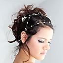baratos Acessórios de Cabelo-Imitação de Pérola Headbands / Pentes de cabelo / Cadeia da cabeça com 1 Casamento / Ocasião Especial / Ao ar livre Capacete