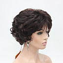 cheap Synthetic Capless Wigs-new wavy curly dark auburn mix off black short synthetic hair women s full thick wigs for everyday