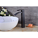 cheap Bathroom Sink Faucets-Bathroom Sink Faucet - Waterfall Oil-rubbed Bronze Centerset Single Handle One Hole