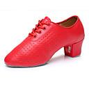 abordables Tenue de Danse Latine-Homme Similicuir Chaussures Latines Talon Talon Bas Personnalisables Rouge / Utilisation